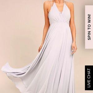 Lulus dress•NWT•grey lavender 💜